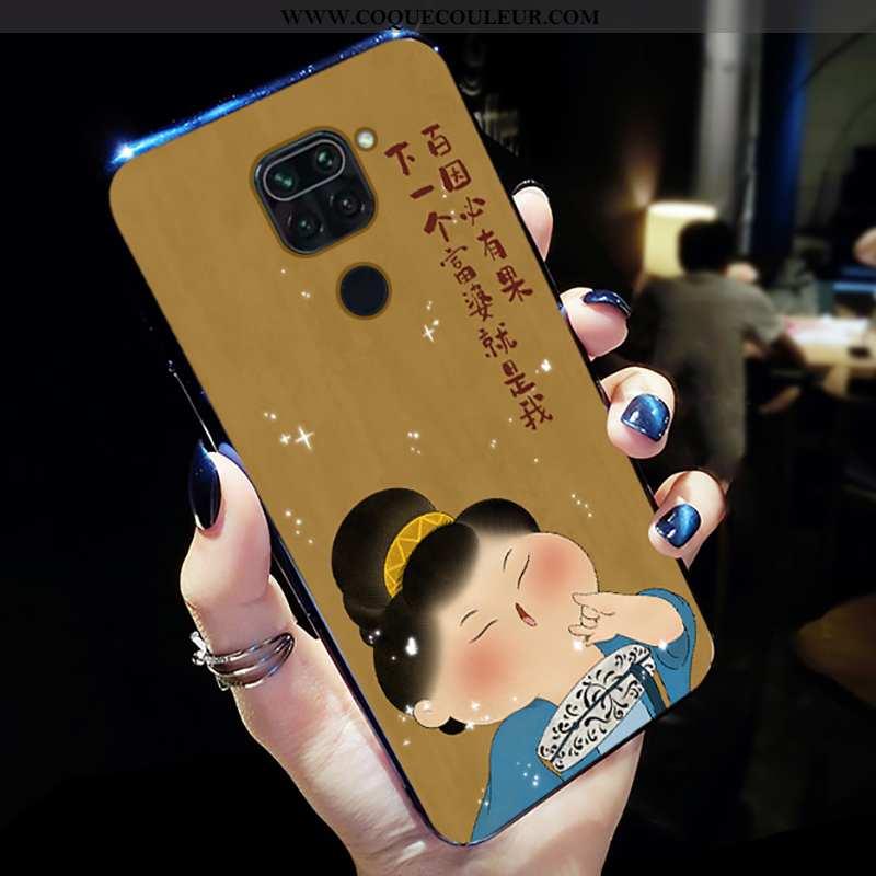 Housse Xiaomi Redmi Note 9 Tendance Silicone Rouge, Étui Xiaomi Redmi Note 9 Légère Frais Jaune