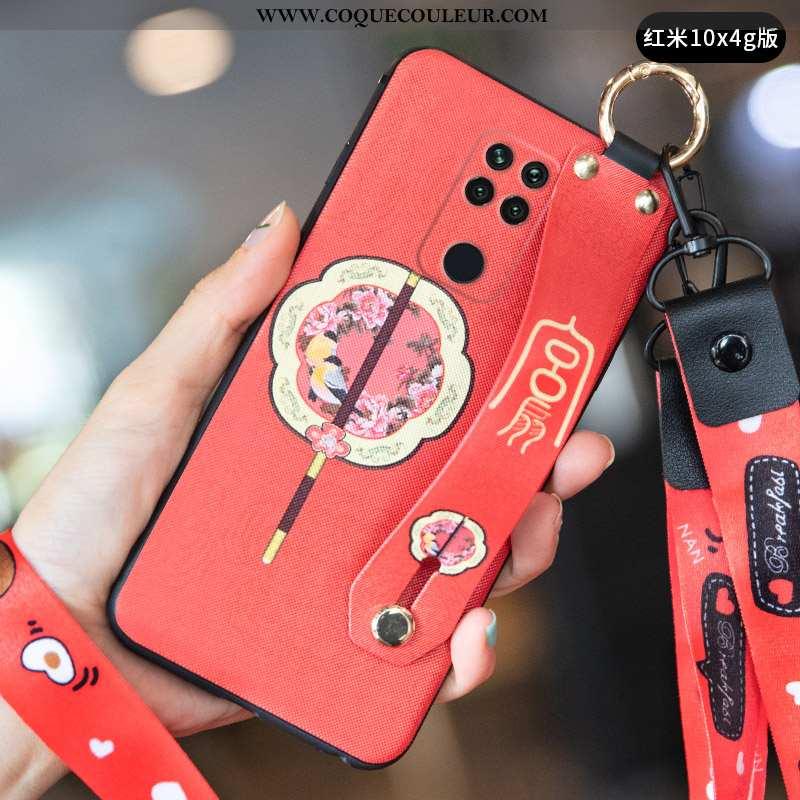 Étui Xiaomi Redmi Note 9 Créatif Rouge Tout Compris, Coque Xiaomi Redmi Note 9 Vintage Incassable