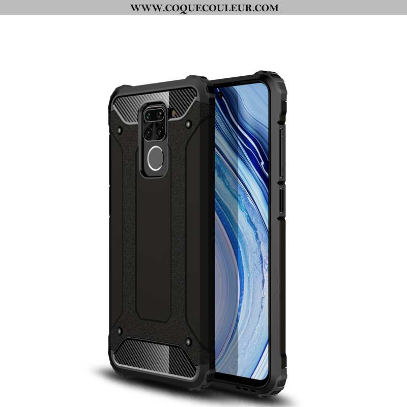 Coque Xiaomi Redmi Note 9 Silicone Étui Noir, Housse Xiaomi Redmi Note 9 Protection À Bord Noir