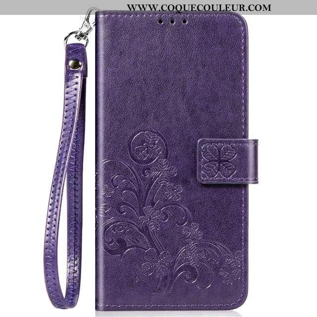 Housse Xiaomi Redmi Note 9 Fluide Doux Téléphone Portable Violet, Étui Xiaomi Redmi Note 9 Cuir Roug