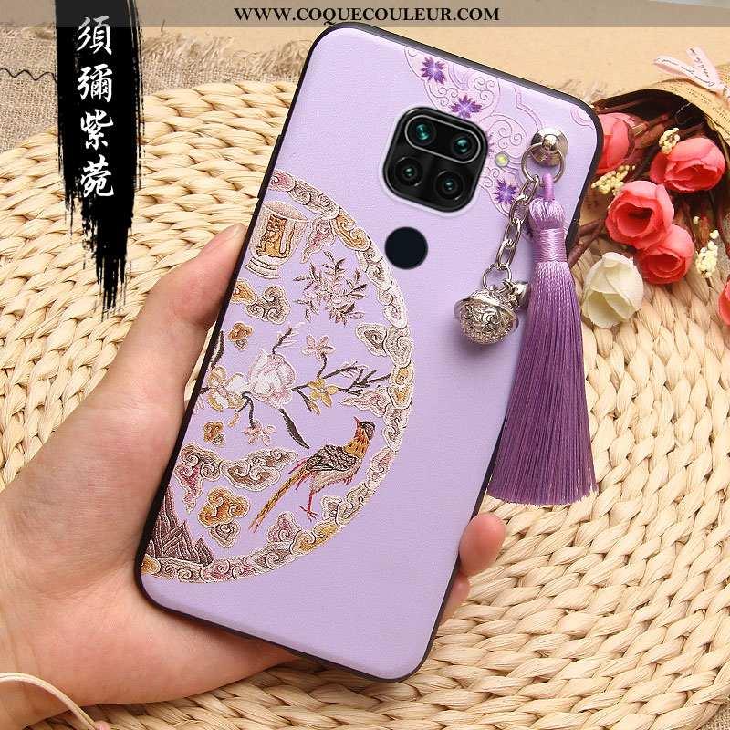 Coque Xiaomi Redmi Note 9 Gaufrage Étui Téléphone Portable, Housse Xiaomi Redmi Note 9 Fluide Doux R