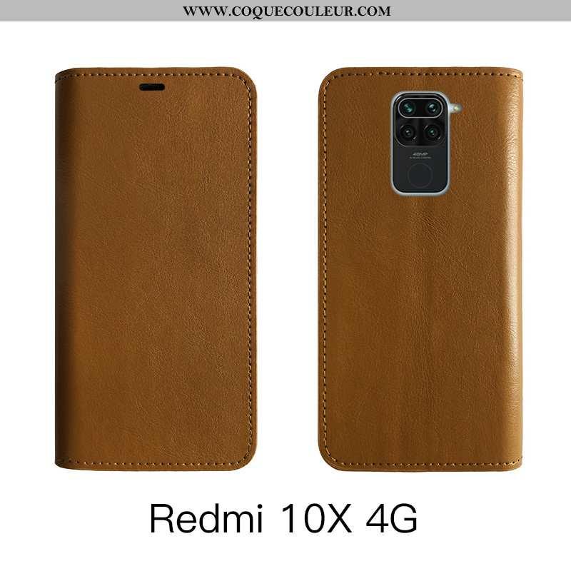 Housse Xiaomi Redmi Note 9 Cuir Véritable Protection, Étui Xiaomi Redmi Note 9 Cuir Tout Compris Mar
