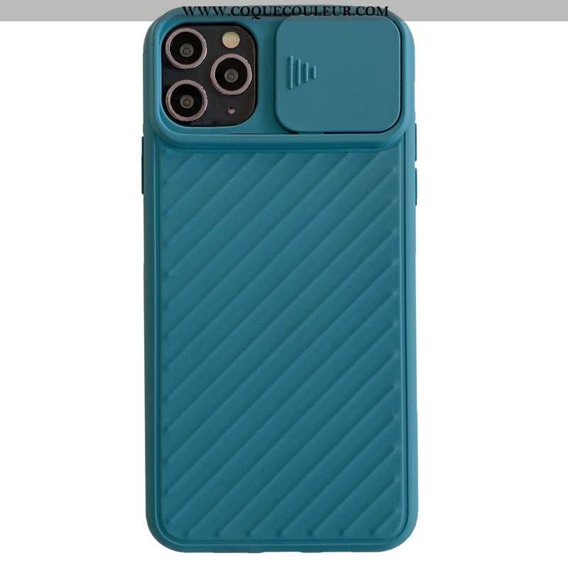 Housse iPhone 11 Pro Max Silicone Créatif Téléphone Portable, Étui iPhone 11 Pro Max Protection Bleu