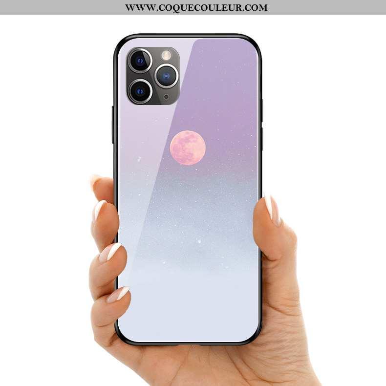 Étui iPhone 11 Pro Max Verre Clair, Coque iPhone 11 Pro Max Silicone Violet