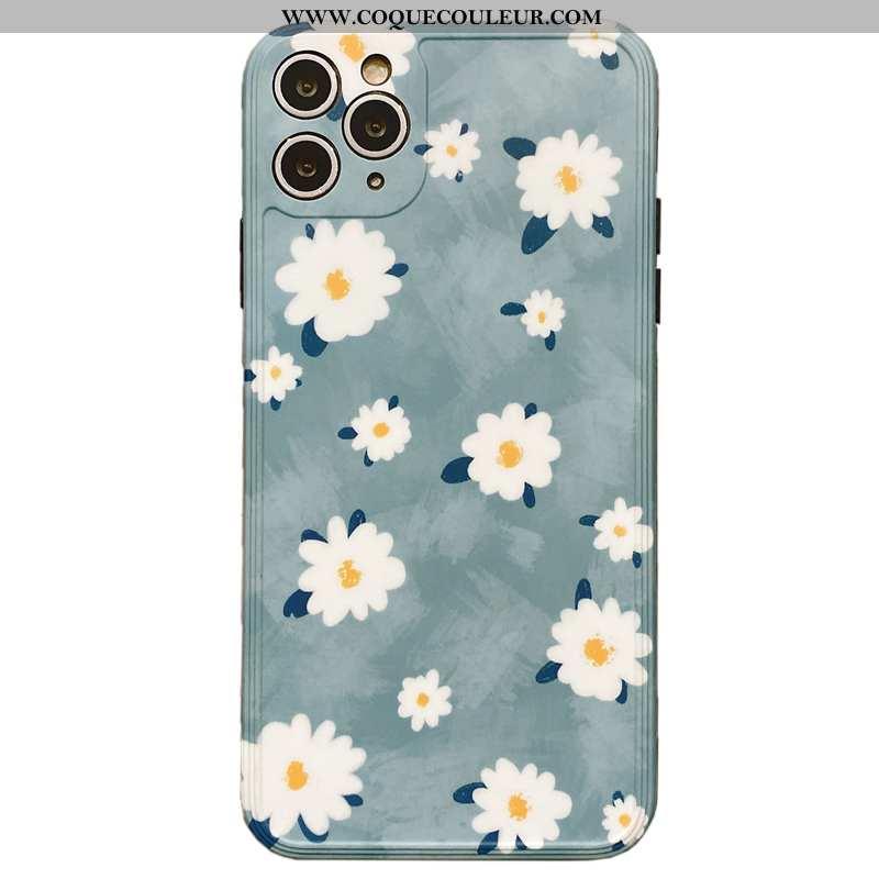 Housse iPhone 11 Pro Max Créatif Luxe Tout Compris, Étui iPhone 11 Pro Max Fluide Doux Vent Bleu