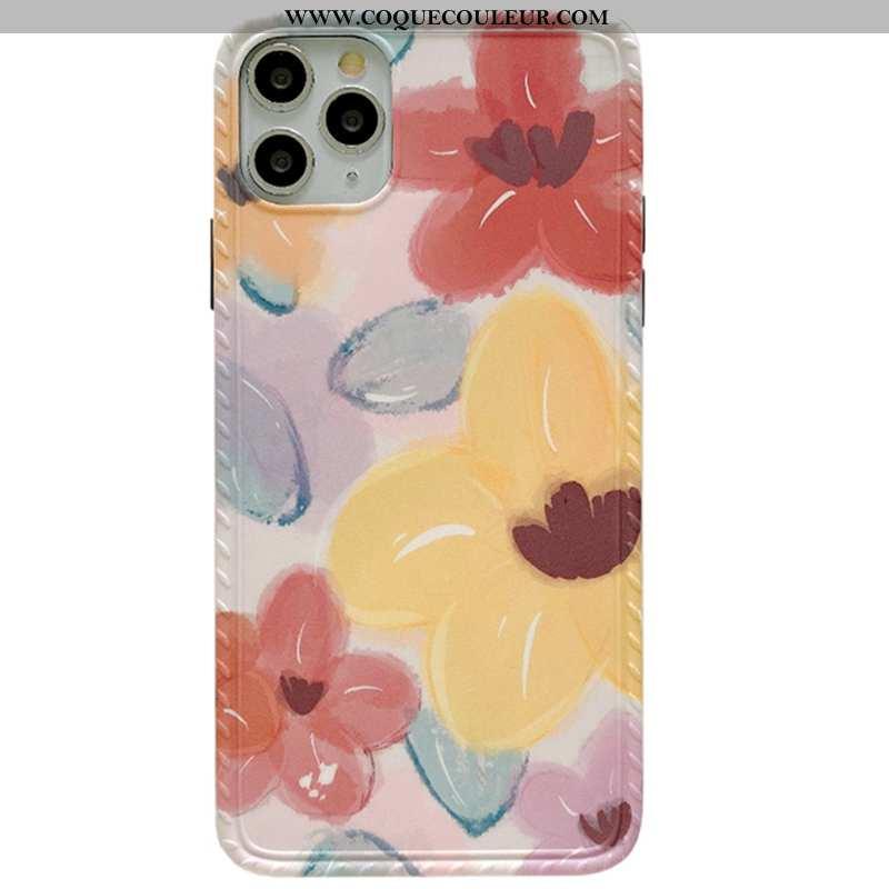 Coque iPhone 11 Pro Max Fluide Doux Tout Compris Coque, Housse iPhone 11 Pro Max Silicone Peinture À