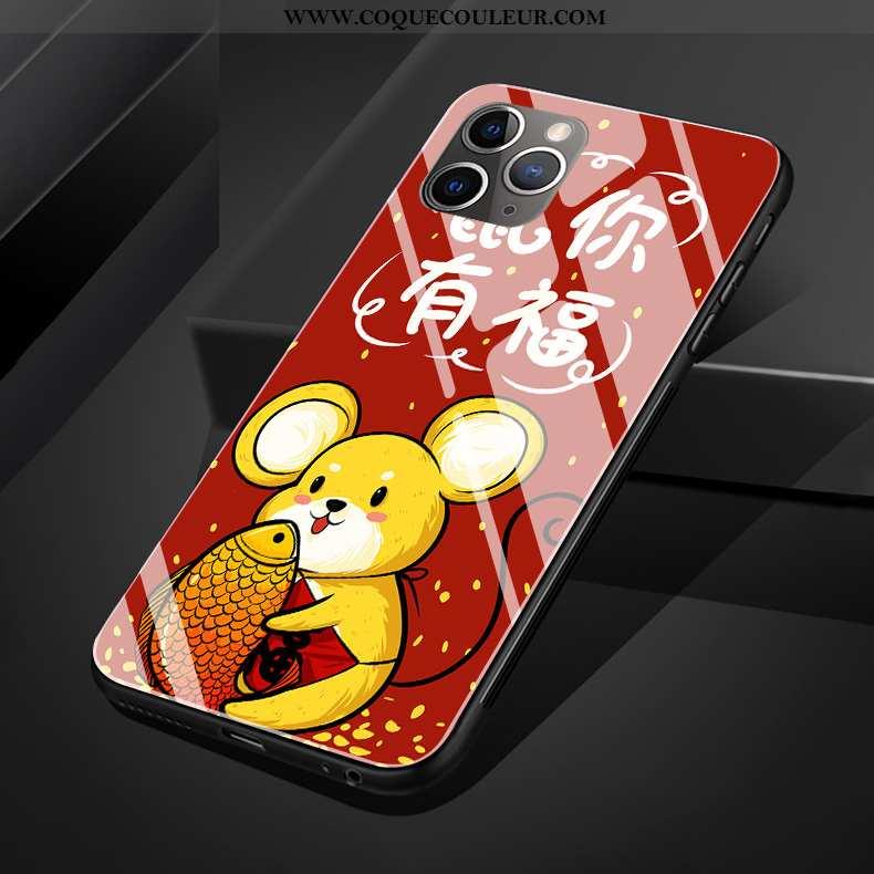 Housse iPhone 11 Pro Max Verre Coque Dessin Animé, Étui iPhone 11 Pro Max Créatif Téléphone Portable
