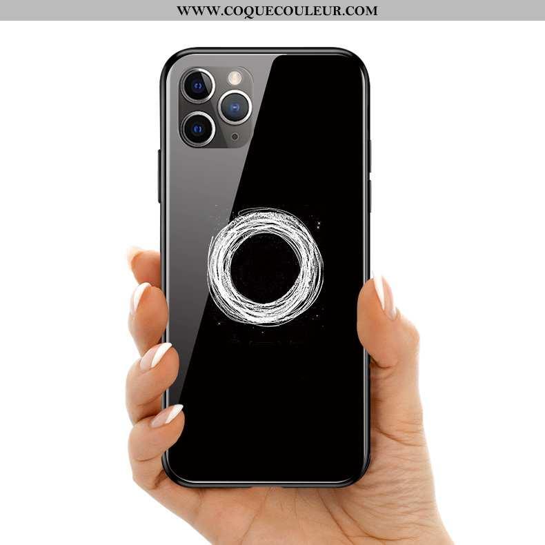 Housse iPhone 11 Pro Max Protection Téléphone Portable Coque, Étui iPhone 11 Pro Max Verre Silicone