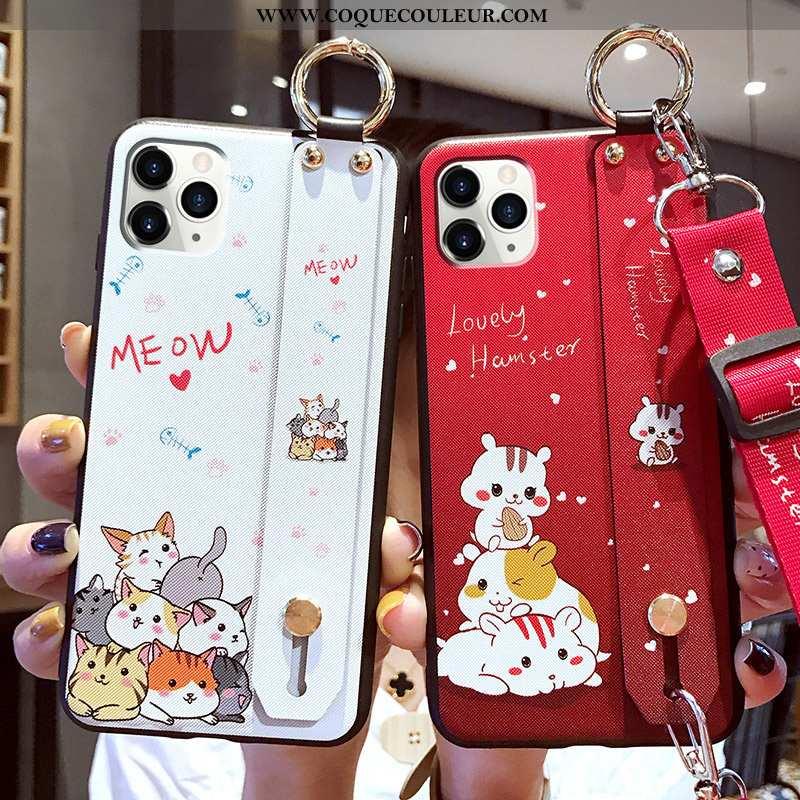 Étui iPhone 11 Pro Max Ultra Dessin Animé Coque, Coque iPhone 11 Pro Max Tendance Fluide Doux Rouge