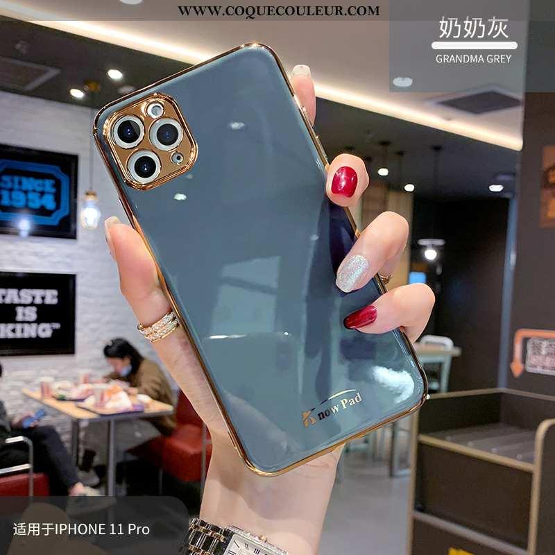 Housse iPhone 11 Pro Max Personnalité Tendance Vent, Étui iPhone 11 Pro Max Créatif Fluide Doux Bleu
