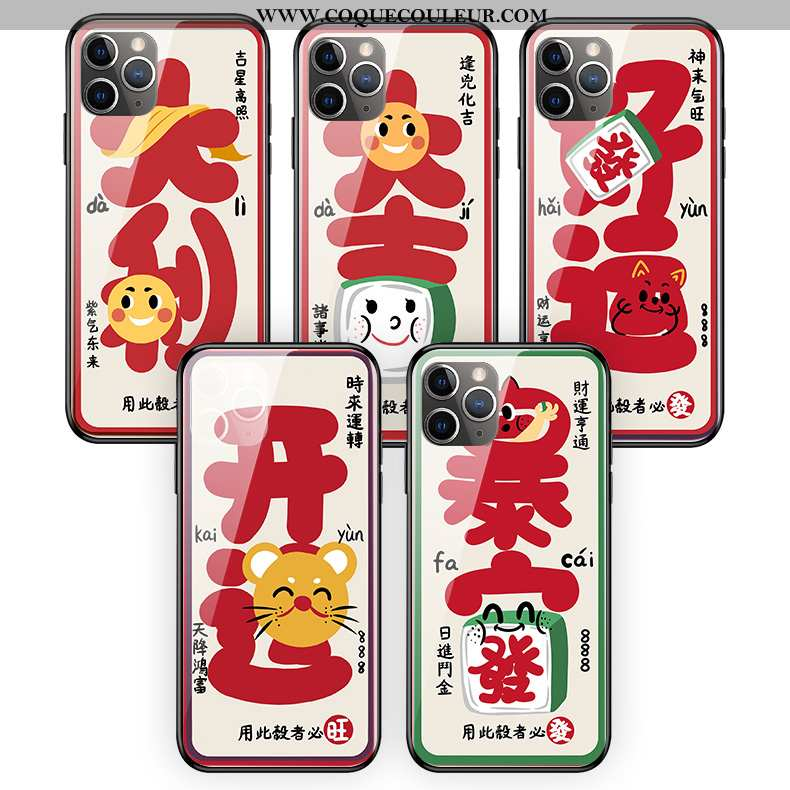 Coque iPhone 11 Pro Max Silicone Créatif Rouge, Housse iPhone 11 Pro Max Protection Rat Rouge
