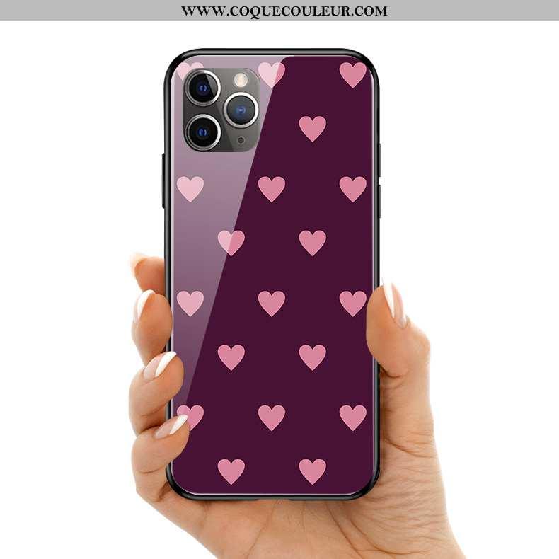 Housse iPhone 11 Pro Max Verre Amoureux Téléphone Portable, Étui iPhone 11 Pro Max Charmant Violet