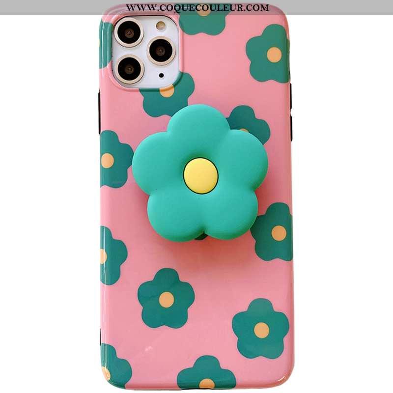 Étui iPhone 11 Pro Max Personnalité Rose Téléphone Portable, Coque iPhone 11 Pro Max Créatif