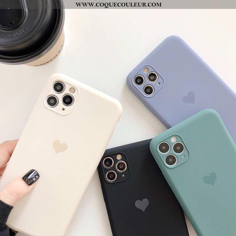 Housse iPhone 11 Pro Max Créatif Blanc Légère, Étui iPhone 11 Pro Max Charmant Coque Blanche
