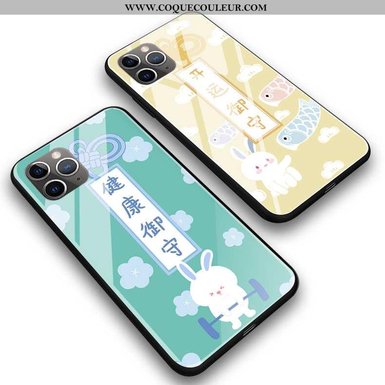 Coque iPhone 11 Pro Max Verre Téléphone Portable Coque, Housse iPhone 11 Pro Max Silicone Protection