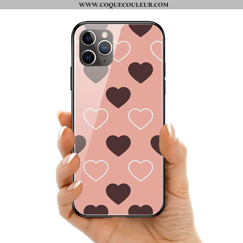 Étui iPhone 11 Pro Max Créatif Amour Téléphone Portable, Coque iPhone 11 Pro Max Silicone Petit Rose