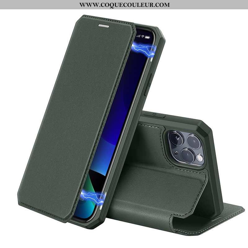 Coque iPhone 11 Pro Max Personnalité Protection Carte, Housse iPhone 11 Pro Max Cuir Vert Verte