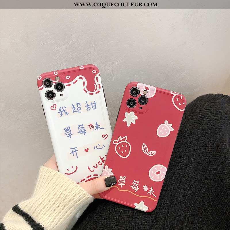 Coque iPhone 11 Pro Max Personnalité Étoile, Housse iPhone 11 Pro Max Créatif Protection Rouge