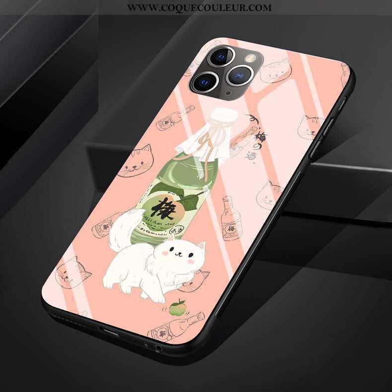Étui iPhone 11 Pro Max Dessin Animé Lapin Protection, Coque iPhone 11 Pro Max Silicone Rose