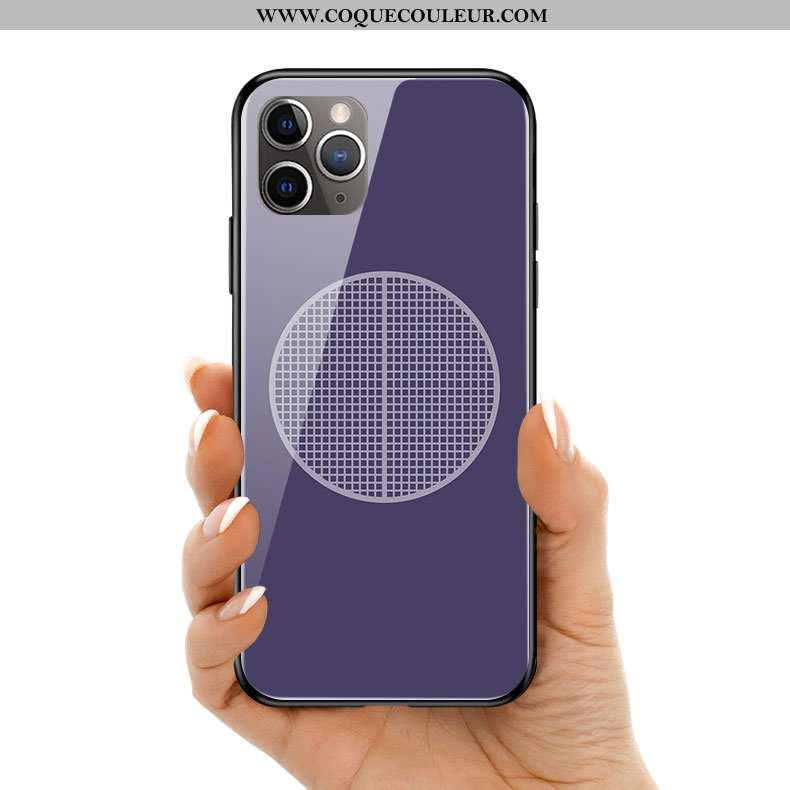 Étui iPhone 11 Pro Max Protection Silicone Violet, Coque iPhone 11 Pro Max Verre Violet