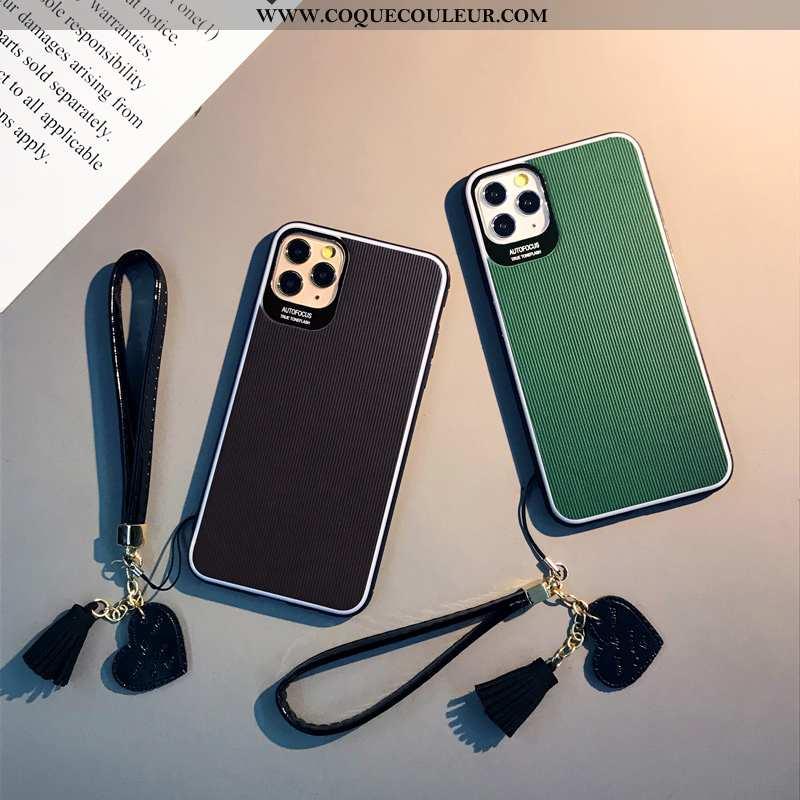 Étui iPhone 11 Pro Protection Cuir Tendance, Coque iPhone 11 Pro Personnalité Noir