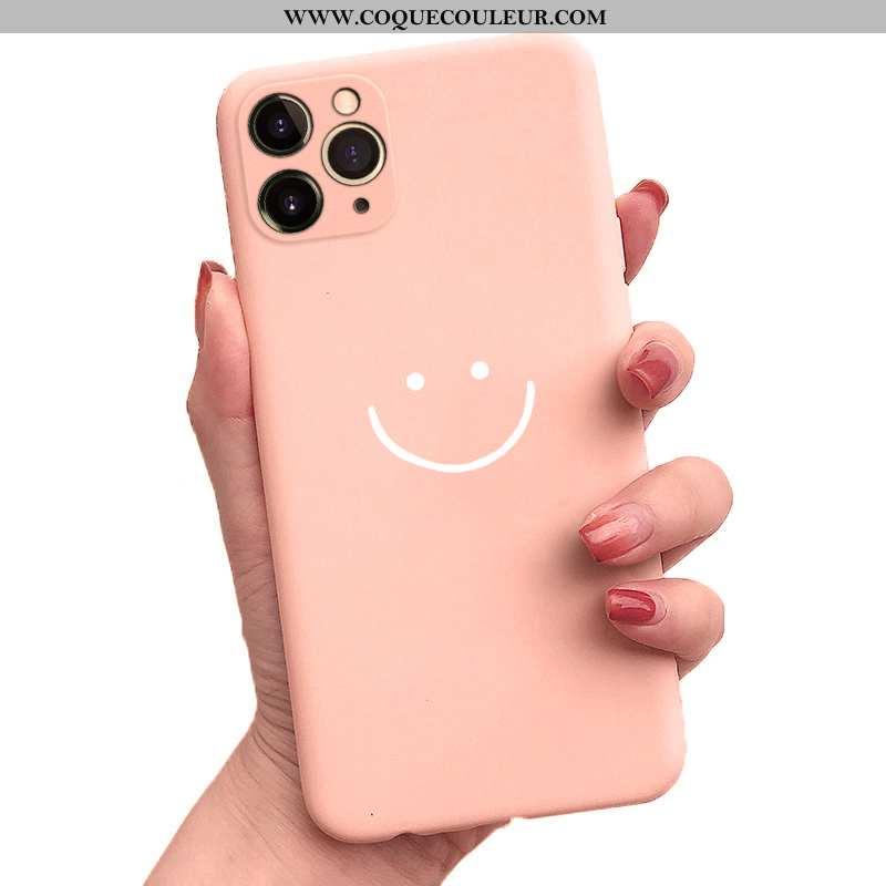 Coque iPhone 11 Pro Silicone Simple Tout Compris, Housse iPhone 11 Pro Personnalité Incassable Rose