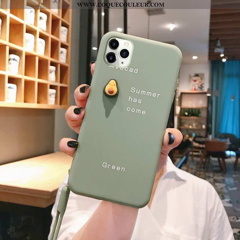 Étui iPhone 11 Pro Silicone Incassable Dimensionnel, Coque iPhone 11 Pro Personnalité Ultra Verte