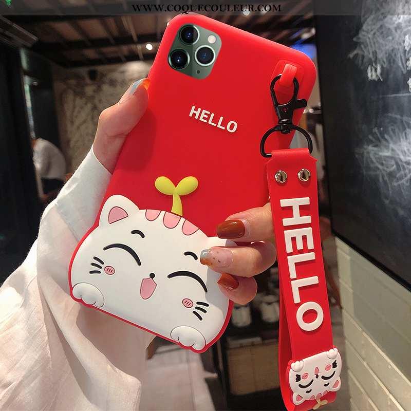 Housse iPhone 11 Pro Silicone Fluide Doux Incassable, Étui iPhone 11 Pro Protection Dessin Animé Rou