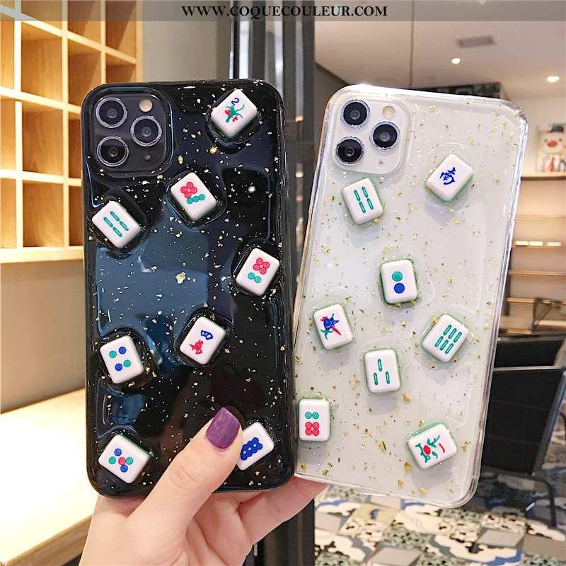 Housse iPhone 11 Pro Fluide Doux Dimensionnel Étui, Étui iPhone 11 Pro Silicone Incassable Noir