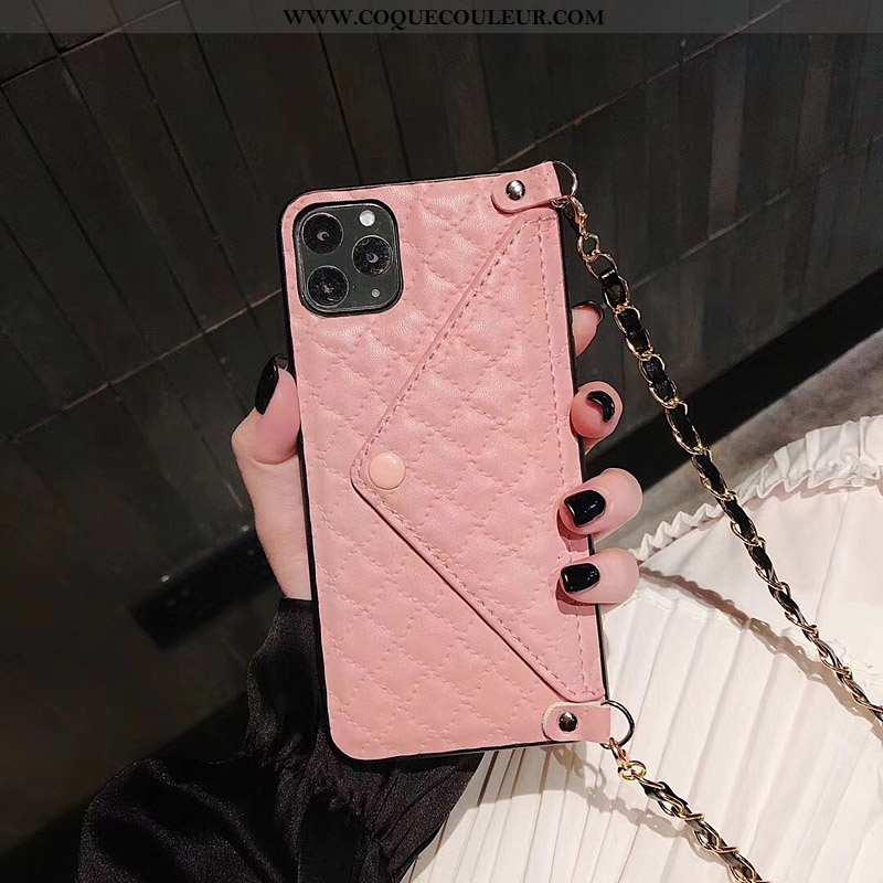 Housse iPhone 11 Pro Cuir Rose Luxe, Étui iPhone 11 Pro Fluide Doux Tout Compris