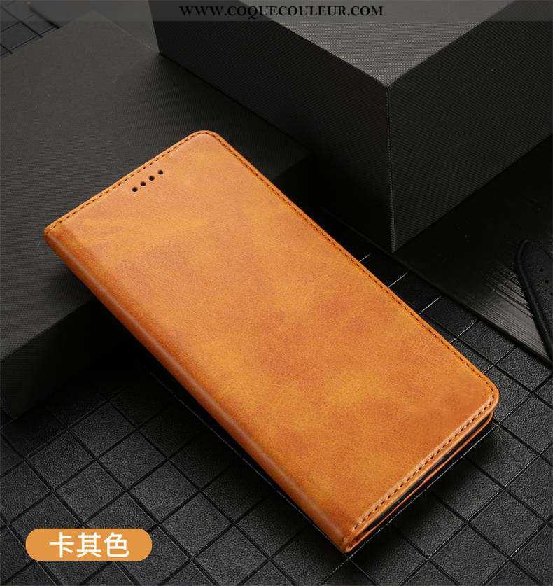 Housse iPhone 11 Pro Protection Carte Clamshell, Étui iPhone 11 Pro Cuir Khaki