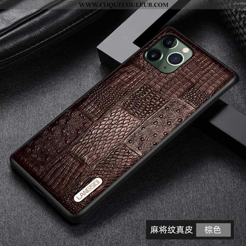 Coque iPhone 11 Pro Personnalité Luxe Téléphone Portable, Housse iPhone 11 Pro Créatif Cuir Véritabl