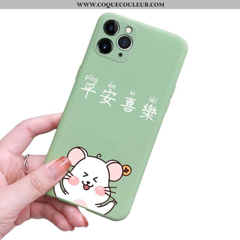 Coque iPhone 11 Pro Fluide Doux Ultra Grand, Housse iPhone 11 Pro Silicone Légère Verte