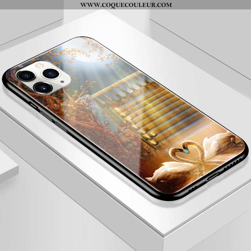 Coque iPhone 11 Pro Verre Tendance Jaune, Housse iPhone 11 Pro Personnalité Simple Jaune