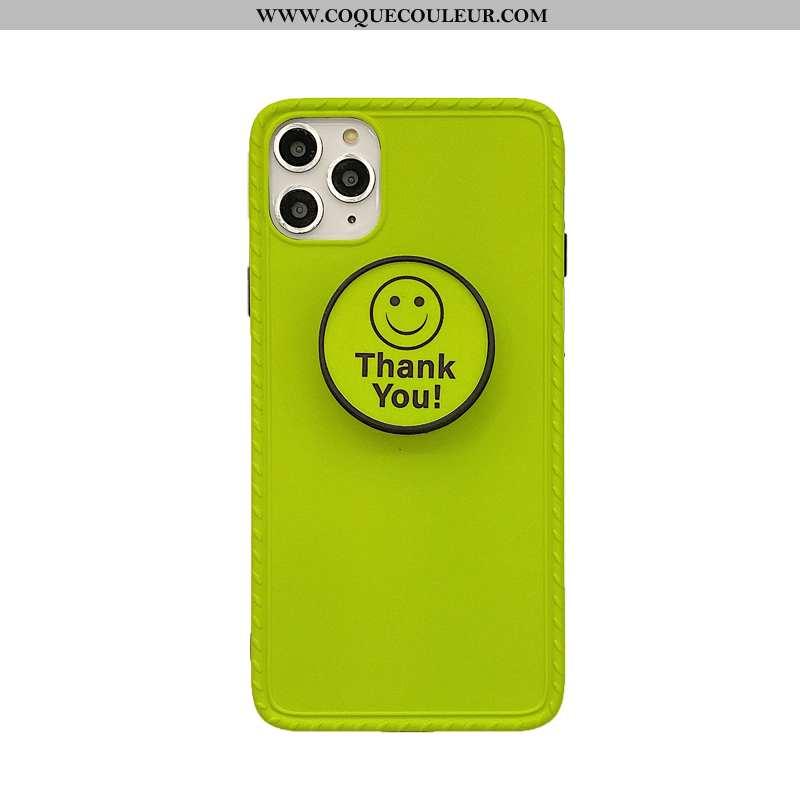 Coque iPhone 11 Pro Fluo Téléphone Portable, Housse iPhone 11 Pro Souriant Support Verte