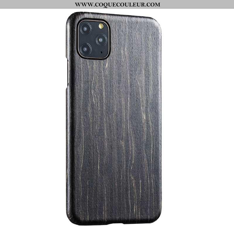Housse iPhone 11 Pro Protection Téléphone Portable Légère, Étui iPhone 11 Pro En Bois Qualité Noir