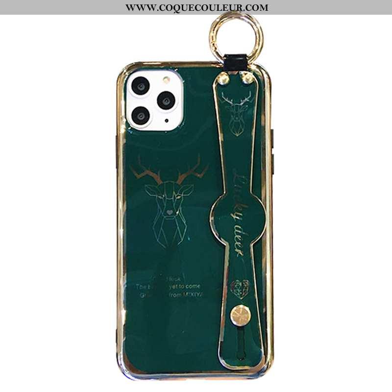 Housse iPhone 11 Pro Luxe Étui Vert, iPhone 11 Pro Fluide Doux Tout Compris Verte