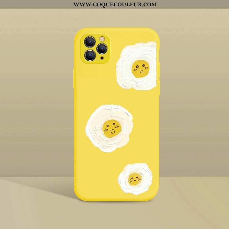 Coque iPhone 11 Pro Légère Petite Marguerite Ultra, Housse iPhone 11 Pro Fluide Doux Tendance Jaune