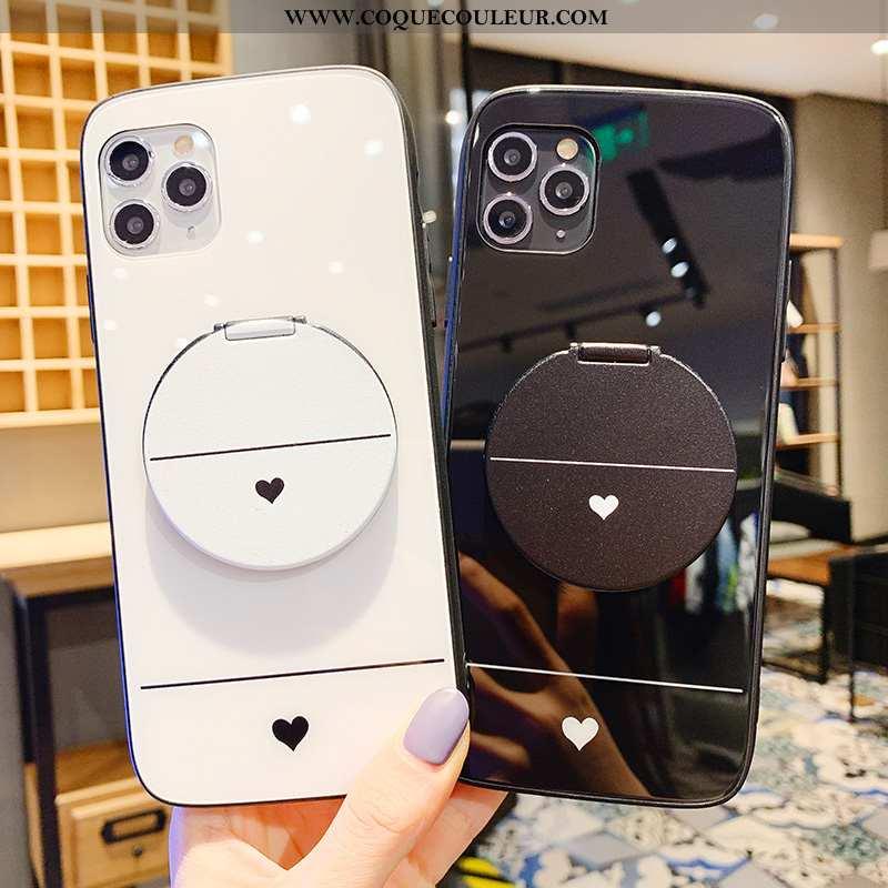 Coque iPhone 11 Pro Protection Téléphone Portable Petit, Housse iPhone 11 Pro Créatif Amour Blanche