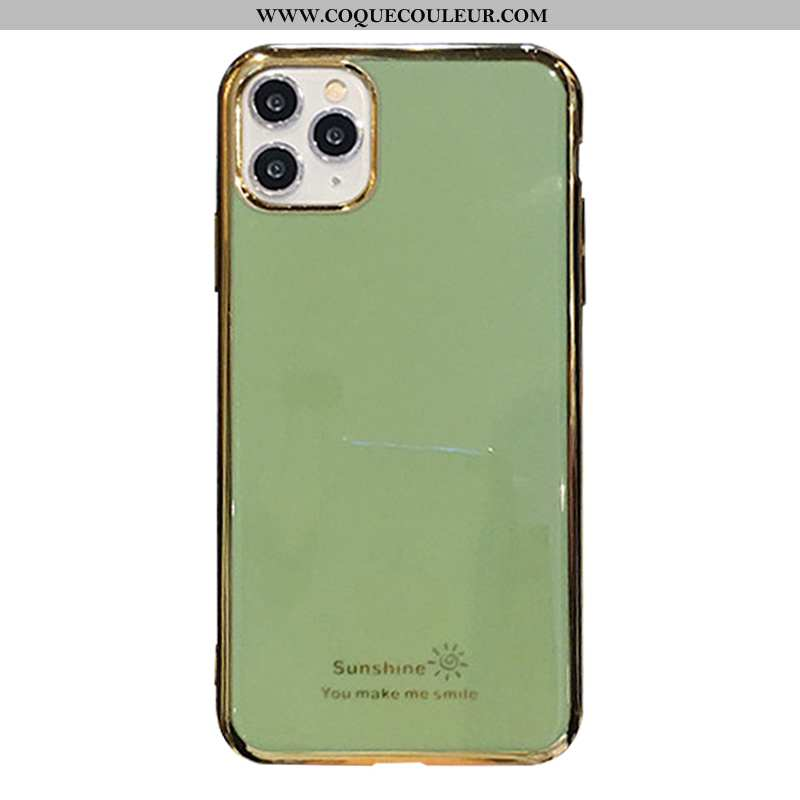 Étui iPhone 11 Pro Fluide Doux Coque, Coque iPhone 11 Pro Luxe Border Verte