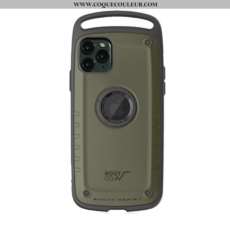 Coque iPhone 11 Pro Silicone Légère Vert, Housse iPhone 11 Pro Délavé En Daim Téléphone Portable Arm