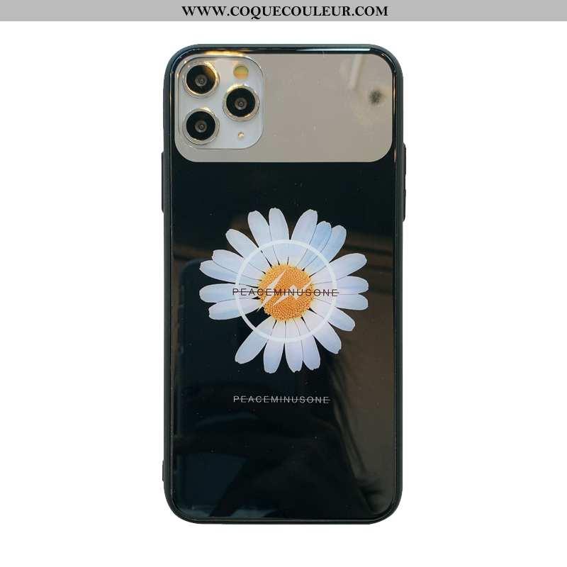 Coque iPhone 11 Pro Verre Difficile Miroir, Housse iPhone 11 Pro Net Rouge Noir