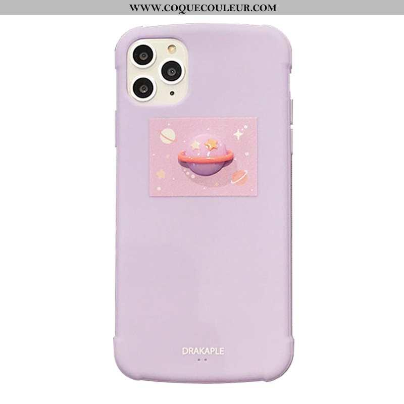Étui iPhone 11 Pro Délavé En Daim Planète Tout Compris, Coque iPhone 11 Pro Fluide Doux Rose