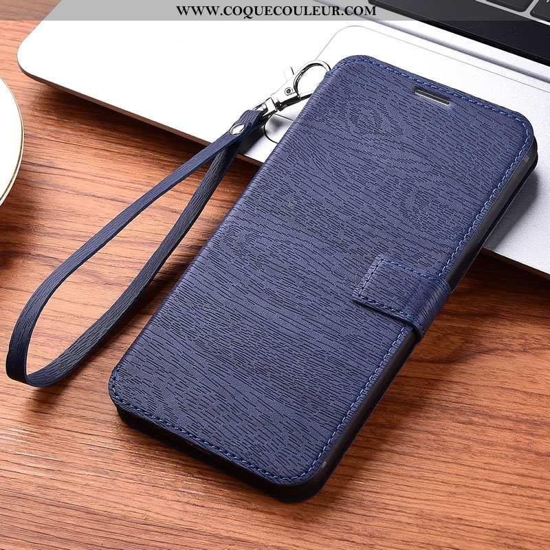 Étui iPhone 11 Cuir Tout Compris Bleu, Coque iPhone 11 Fluide Doux Bleu