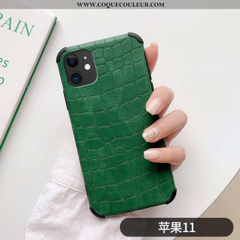 Coque iPhone 11 Personnalité Net Rouge Simple, Housse iPhone 11 Créatif Ultra Verte