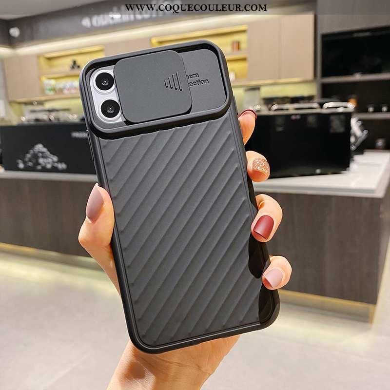 Housse iPhone 11 Silicone Simple Tout Compris, Étui iPhone 11 Mode Noir