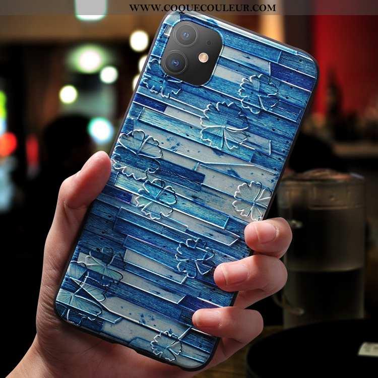 Housse iPhone 11 Silicone Ultra Net Rouge, Étui iPhone 11 Délavé En Daim Nouveau Bleu