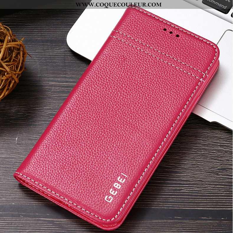 Étui iPhone 11 Personnalité Coque Étui, iPhone 11 Cuir Véritable Protection Rouge