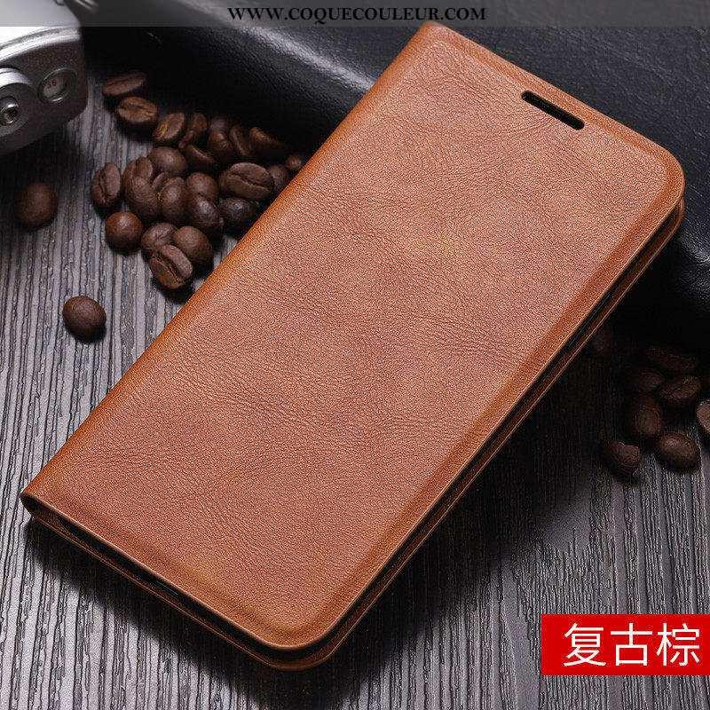 Coque iPhone 11 Fluide Doux Nouveau Business, Housse iPhone 11 Silicone Étui Marron