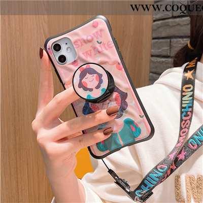 Housse iPhone 11 Ornements Suspendus Dessin Animé Net Rouge, Étui iPhone 11 Personnalité Petit Rose